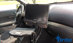 Getac V110 Convertible paired with Havis Dock