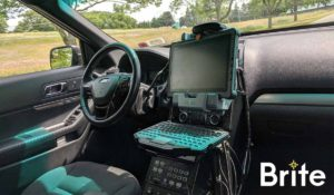 Getac F110 with a Havis Dock in a Ford Utility