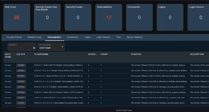 Vulnerability Management Dashboard